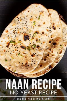 This recipe for no yeast naan bread is one that is healthy and can go with many Indian meals. This recipe is easily made on the stovetop, tandoor, or oven and is perfect for a side for authentic Indian dinners. Try it for breakfast with butter! Naan Recipe Without Yeast, Homemade Bread Without Yeast, Recipes With Naan Bread, Ham Recipes, Oven Recipes, Indian Food Recipes, Soup Recipes, Vegetarian Recipes, Dessert Recipes