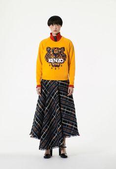Sweatshirt Tigre 'Floral Leaf', JAUNE ORANGE, KENZO