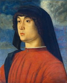 Portrait of a Young Man in Red, 1485-90 - Giovanni Bellini - The Athenaeum