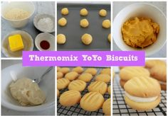 These Thermomix Yoyo biscuits are sure to be gobbled up as soon as they hit the biscuit tin (if they even make it that far! Biscuit Cake, Biscuit Recipe, Sweet Recipes, Cake Recipes, Bellini Recipe, Cake Stall, Rich Recipe, Dessert For Dinner, Yummy Cookies