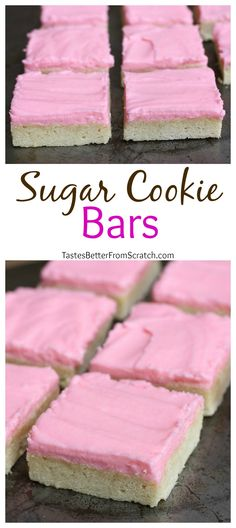 The BEST Sugar Cookie Bars! Soft and chewy and soo easy to make! Recipe on MyRecipeMagic.com