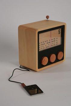 MAGNO wooden radio CUBE by singgih kartono