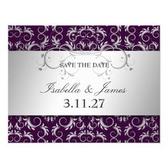 Review311 Silver Divine Eggplant Save the Date Personalized InvitesThis site is will advise you where to buy