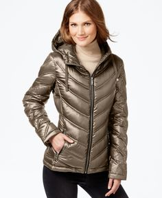 cbf5e105c06 Calvin Klein Chevron-Quilted Packable Down Puffer Coat Damas