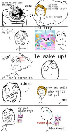 Unikitty rage comic!