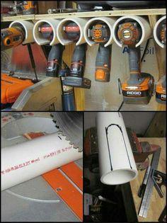 Tool hanger/pvc