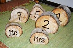 Rustic Wedding Decor - cute burnt wood