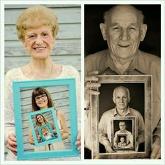 Such a cute idea - generation photo. but i would do it backwards.