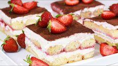 Bestes Erdbeer Tiramisu Rezept No Bake Desserts, Dessert Recipes, Tiramisu Dessert, Cheesecake, Deserts, Food And Drink, Cooking Recipes, Ethnic Recipes, Youtube Kanal