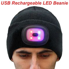 EZGO Unisex Knitted LED Beanie Cap, Ultra Bright Elite Outdoor Lighted Headlamp Hat with Removable LED Light, Perfect Hands Free Flashlight For Camping Walking Running and Hunting >>> Details can be found by clicking on the image.