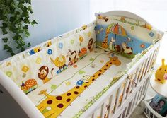 39.80$  Buy now - http://alic3g.worldwells.pw/go.php?t=32523095648 - Promotion! 6PCS Infant Bedding Set for Newborn Baby Crib Bedding Set,include(bumper+sheet+pillow cover) 39.80$