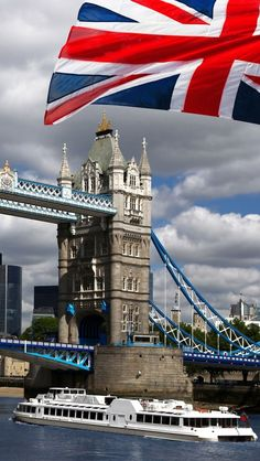 Smashing Things: Tower Bridge, London.  Love the mesh-mash of the historic bridge with the modern cruiser.