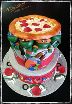 Ninja Turtle Cake my birthday is in two days so i was looking at cakes and this is awesome
