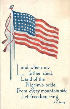 patriotic post cards   Vintage Postcards World War II Flag - Patriotic Postcards Gallery ...