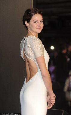 Ladylike in white: Shailene Woodley was the star of the show on the red carpet in London's...