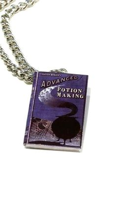 Advanced Potions book Harry Potter necklace Novel Book #harrypotter #advancedpotionmaking #advancedpotions #potions #snape Charm Professor Snape  #Charm
