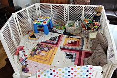 Hint Mama contributor Olivia Howell shares how to create a fun and safe play space in a small area.