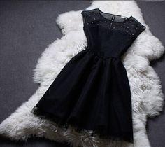 The new beaded sleeveless vest dress ER30412PO