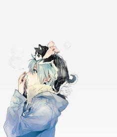 Anime/manga: Kuroko No Basuke Characters: Tetsuya and Kuroko Tetsuya kawaii! Anime Boys, Manga Kawaii, Art Anime, Anime Kunst, Chica Anime Manga, Cute Anime Boy, Manga Boy, I Love Anime, Kuroko No Basket