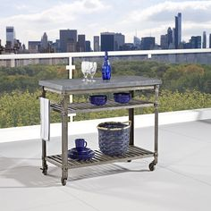 Urban Style Aged Metal Kitchen Cart Home Styles Furniture Islands & Work Centers Kitchen I
