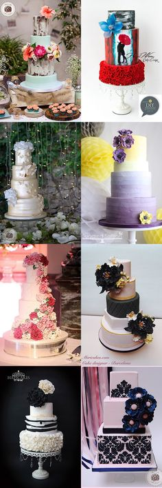 We're patiently counting down to lunchtime by looking at these gorgeous wedding cakes, they are just so pretty and made our jaws drop!