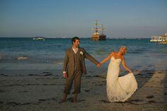 Lori & Ross, April 8, 2016 Decor by Amore Weddings Venue: Huracan Cafe  Photo by Katya Nova Destination Weddings Punta Cana, DR www.barefootbridal.com