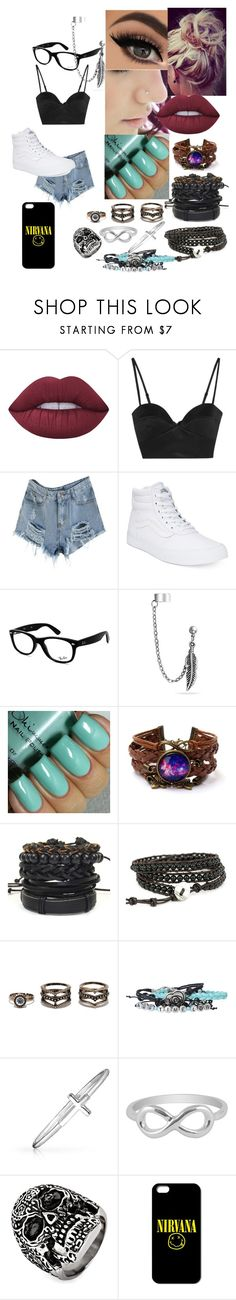 """""""Untitled #8"""" by meghan-hemmings310 ❤ liked on Polyvore featuring Lime Crime, Michael Lo Sordo, Vans, Ray-Ban, Bling Jewelry, LULUS, Jewel Exclusive and West Coast Jewelry"""