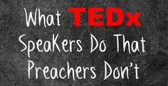 """Ever seen a TEDx talk? They're pretty great. Here's one I happen to enjoy, and have used in a couple of sermons. I've wondered for a long time, """"How in the world do each of these talks end up consi..."""
