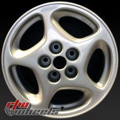 """Nissan 300ZX wheels for sale 1990-1996. 16"""" Silver rims 62260 - http://www.rtwwheels.com/store/shop/16-nissan-300zx-wheels-for-sale-silver-62260/"""