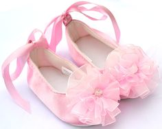 Baby Satin Pink Shoes