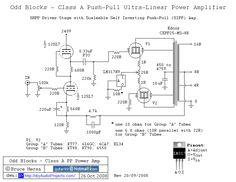 12SL7 SRPP / KT88 Push-Pull Tube Amp Schematic