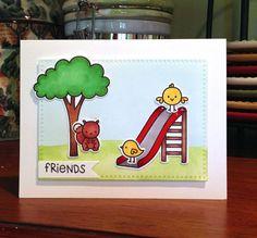 Lawn Fawn slide card