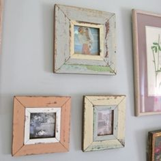 Rustic Frames. Anyone know of a how-to for doing these yourself?