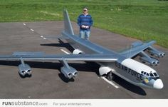 This is a pretty big radio controlled model plane