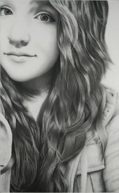 Black And White Self Portrait .Ineed to learn to draw hair like that man!
