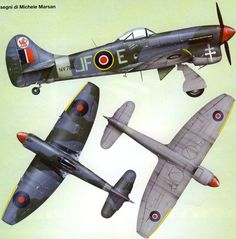 Vintage Planes Hawker Typhoon BFD RAF t Aircraft Planes and Aviation Air Force Aircraft, Navy Aircraft, Ww2 Aircraft, Fighter Aircraft, Military Aircraft, Fighter Jets, Hawker Tempest, Hawker Typhoon, Camouflage