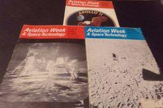Lot 3 Vintage Aviation Week & Space Technology Apollo 11 Apollo 12-20 Man Moon