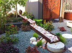 Garden Design Ideas With Pebbles Gardens Short plants and