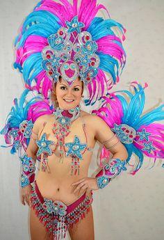 Carnaval de Blue/Pink brésilien SAMBA danse fille