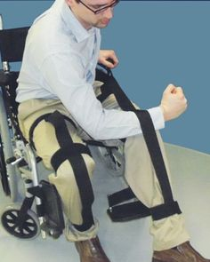 The Leg Wrap Positioning Aid attaches to the users ankle, knee and thigh to allow the user to reposition their leg to or from toilets, beds, couches, desks, cars, etc. The handles allow the user to maintain control and practice safety in transferring limbs. This can reduce injury. This device eliminates the need to use clothing or outside assistance to move the patients leg.