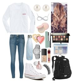 """School 50"" by ella-goodness on Polyvore featuring Frame, Converse, The North Face, S'well, Henri Bendel, Anastasia Beverly Hills, Michael Kors, Too Faced Cosmetics, NARS Cosmetics and MAC Cosmetics"