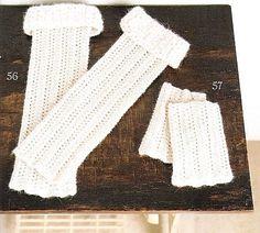 Crochet Leg warmers and Mittens - Chart