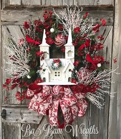 Church Wreath Winter Wreath White Christmas Christmas