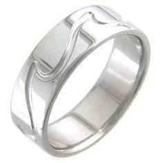 Boone Titanium Ring - Ocean