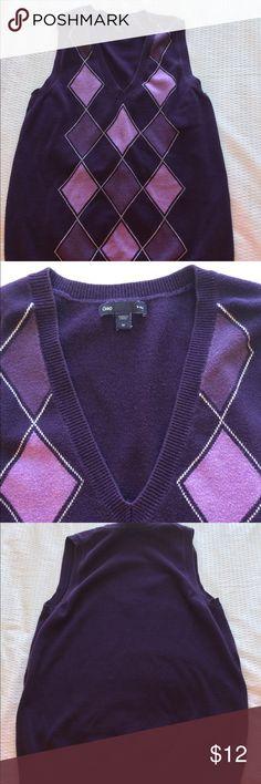 Gap argyle sweater vest Gap argyle sweater vest GAP Tops