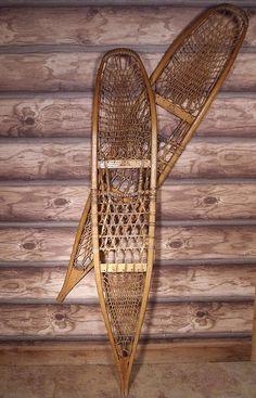 antique military snowshoes