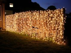 Curtain String Lights Fence Decor-20 Fence Decoration Makeover DIY Ideas