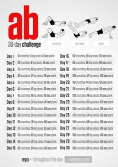 Neila Rey's 30 Day Ab Challenge Squat Challenge, 30 Day Workout Challenge, Fitness Herausforderungen, Fitness Motivation, Fitness Women, Physical Fitness, Health Fitness, Loose Weight, Ways To Lose Weight
