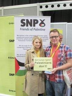 Thank you @alawevans for popping along to support @SNP_FoP & the #Palestinian people at #SNP15 #SNPFoP