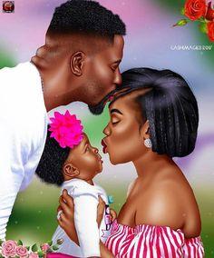 Beautiful!!! ☝️ Follow Chanel Monroe Black Couple Art, Black Love Art, Black Girl Art, Black Couples, My Black Is Beautiful, Black Girl Magic, Beautiful Family, African American Art, African Art